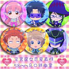 6pcs Wotakoi: Love is Hard for Otaku Pin Button Bedge Badge