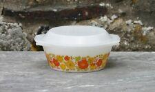 Vintage cocotte saladier en Arcopal décor fleurs Codec