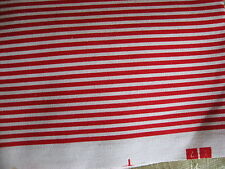 Red white Stripes, 100% Cotton Fabric Canvas Tote bags, Placemats