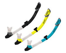 Dry Snorkel with Purge Valve, Flexible Mouthpiece & Quick-Release Removable Mask