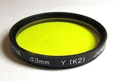 Rear Lens Filter Hoya  43mm Y (K2) made in Japan
