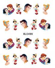 Disney Nail Art (water decals) Cinderella, Pinocchio, And Snow WhIte Nail Art