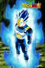 Dragon Ball Super Poster Vegeta Ultra Blue with Logo 12in x 18in Free Shipping