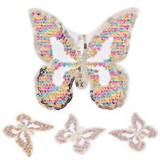 Colored Sequins patch mixed butterfly badge Sew on applique DIY Accessories HF