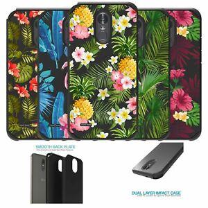 For LG Stylo 3 | LG Stylo 3 Plus Slim Shield Dual Layer Cover - Tropical Designs
