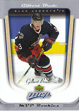 05-06 UPPER DECK MVP ROOKIE RC #395 GILBERT BRULE BLUE JACKETS *2431