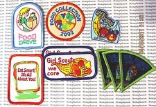 Girl Scout Patches Lot of 9 Food Drive Can Help Charity We Care Food Collection