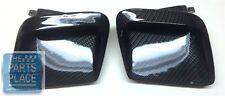 1968-70 Pontiac GTO Custom Carbon Fiber Ram Air Hood Scoop Inserts - Pair