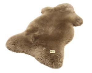 Australisches Merino Lammfell taupe (grau braun) Schaffell Fell Pelz