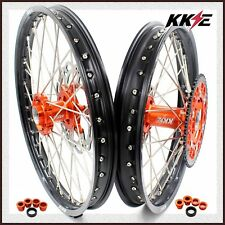KKE 21/19 MX WHEELS SET FOR KTM SXF SX XC XCW 125 150 250 525 200 450 DISC 03-19