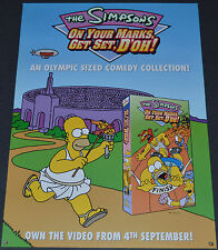 THE SIMPSONS 2000 ORIGINAL 16x23 BRITISH VIDEO RELEASE POSTER! HOMER SIMPSON!!