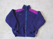Columbia Fleece Jacket Womens Medium Purple Blue Full Zip Coat Long Sleeve