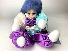"""9"""" Vintage Classic Treasures Porcelain Clown Dol l- CLASSIC PURPLE SATIN OUTFIT"""