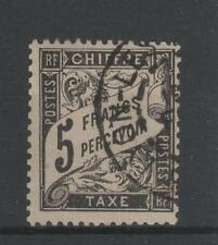 "FRANCE STAMP TIMBRE TAXE N° 24 "" TYPE DUVAL 5F NOIR "" OBLITERE TB A VOIR  M768"