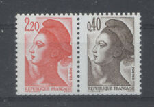 FRANCE TIMBRE - PAIRE 2376b 2f20 + 0,40 LIBERTE - NEUF LUXE **