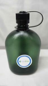 NEW Nalgene Oasis Narrow Mouth 32oz Canteen Water Bottle Foliage w/Black Lid