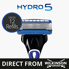 Wilkinson Sword Hydro 5 Mens Razor with 4,8,12 Razor Blades Official Seller