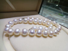 Natural freshwater pearl necklace 11-12MM near round pearl necklace authentic