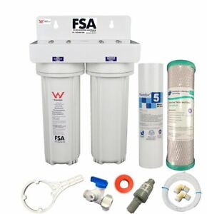 Twin Undersink Water Filter With 3 Way Mixer Tap Watermark WELS Certified