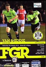 2012/13 Bosque Verde Rovers v Barrow 09-03-2013 Blue Square Premier