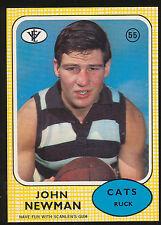 1972 Scanlens No. 55 John Newman Geelong Cats MINT Card r