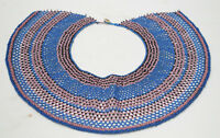 Necklace African Collar Fengu Beaded Pink Blue Necklace