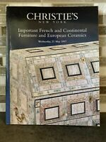 Christie's New York Important French And Continental Furniture/Euro Ceramics