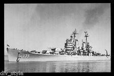 USS Los Angeles CA-135 postcard  US Navy ship Heavy Cruiser