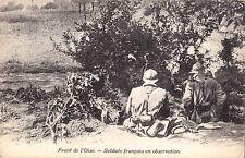 Soldats Français en Observation Front de l'OISE France Guerre 1914-18 Postcard
