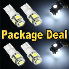 6x White Led Lights For Map + Dome +License Plate Interior Package Deal #A5