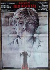 Brubaker - Stuart Rosenberg - Robert Redford - Polish Poster