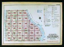 1925 New York City Map Manhattan Columbia University Riverside Park East Side
