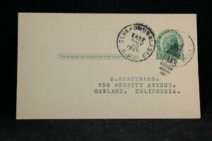 RPO: Seward & Unalaska 1929 Postcard Card, RMS Cancel, Alaska Railroad