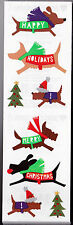 Mrs. Grossman's Stickers - Christmas Dogs - Happy Holiday Puppies - 4 Strips
