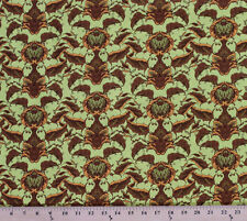 Cotton Tina Givens Fortiny Vintage Motif Cotton Fabric Print by the Yard D406.08