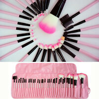 32pcs Set Professional Soft Cosmetic Eyeshadow Makeup Brush Kit + Pouch Bag Case