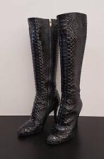 Sergio Rossi Stiefel schwarz Pyhton Gr. 37, Sergio Rossi boots pyhton black UK 4