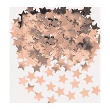 Oro Rosa Estrellas Confetti Mesa Oro Rosa Fiesta Decoración Mesa
