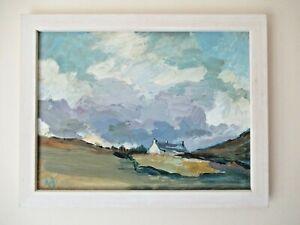 Original A HUDSON Listed Welsh Landscape Cottage Oil Painting Signed Framed