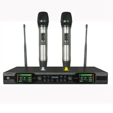 Wireless Microphone Karaoke True Diversity Professional Stage Mic TFT Display