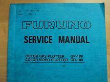Furuno Gps Plotter GD-188 GP-188 service manual