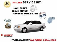 Pour Hyundai Accent 1.5 Crdi D3EA 3/2004-8/2006 Air Huile + Filtre Carburant