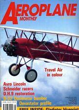 Aeroplane Monthly Magazine 1989 May Cessna Birddog,B-32,Schneider,Macchi C94