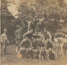 CIVIL WAR VIEW, 7TH NY INFANTRY, 1862.  VINTAGE ORIGINAL STEREOVIEW.