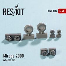 RESIN WHEELS SET  FOR MIRAGE 2000 1/48 RESKIT 48-0034