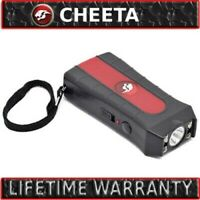 Mini Rechargeable Stun Gun 10 Mil Volts With Led Light Extremely Powerful Black