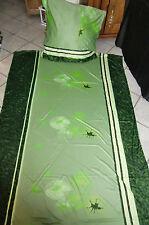 """Wende Bettwäsche Microfaser My Jersey  """"Animal"""" 8-tlg  grün /schwarz  155x220"""