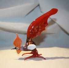 Hand Blown Glass Lamp Glass Murano Art Glass Rooster Figurine #7