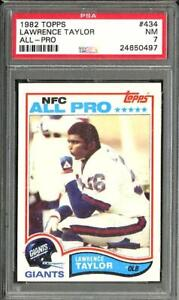 1982 Topps Lawrence Taylor RC Rookie All Pro PSA 7 NM #434