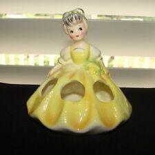 Vintage LEGO Lipstick Girl Holder Figurine in Yellow Dress Lady